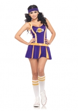 2 PC. Lakers Cheerleader  Costume Leg Avenue
