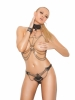 2 Piece Set Chain Vest and Matching Thong