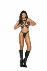 2 Piece Set Leather Harness and Matching G-String