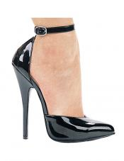 6 Inch Ankle Strap Pump Ellie Shoes