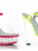6 Inch Clear And Neon Wedge Ellie Shoes