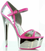 6 Inch D'Orsay with Metallic Plates Ellie Shoes