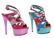 6 Inch Metallic Color Blocked Platform Ellie Shoes