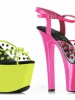 7 Inch Heel Neon Spikes Ellie Shoes