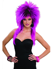 80's Purple Pizazz Adult Wig