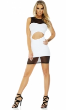 After Party High Collar Bodycon dress Forplay