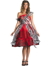 Alice In Wonderland Alice Red Court Dress Costume Disguise