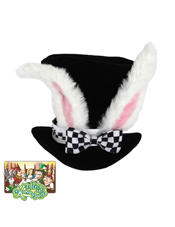 Alice In Wonderland Classic White Rabbit Hat Elope