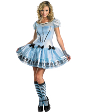 Alice In Wonderland Movie Sassy Dress Alice Costume Disguise