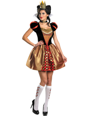 Alice In Wonderland Movie Sassy Red Queen Costume Disguise