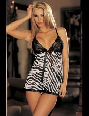 Animal Print Babydoll Shirley
