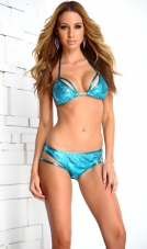 Bahamas Sequin Strappy Bikini Set Forplay