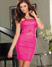 Banded Zipper Dress
