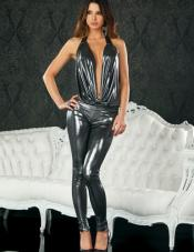 Belene Metallic Halter Jumpsuit Forplay