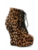 Belladonna Spiked Wedge Ankle Bootie
