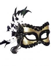Black and Gold Carnival Mask Smiffys
