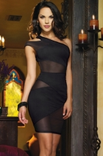 Black Crush Cutout Dress Dreamgirl