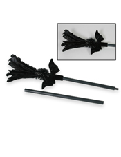 Black Feather Sparkle Broom Forum Novelties