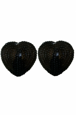 Black Heart Shaped Sequin Pasties iCollection