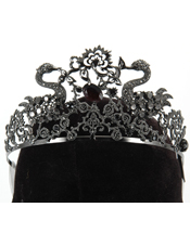 Black Jeweled Tiara Adult Elope