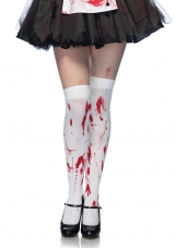 Bloody Zombie Thigh Highs Leg Avenue