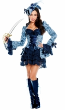Blue Victoria's Pirate Costume