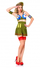 Bomber Girl Costume Leg Avenue