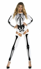 Bone-A-Fide Skeleton Bodysuit Costume Forplay