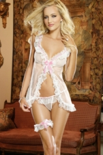 Book of Love Babydoll and Garter Set Dreamgirl