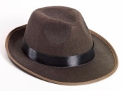 Brown Fedora Adult Hat Forum Novelties