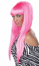 Bubble Gum (Pink) Adult Wig California Costume