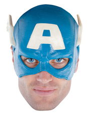Captain America Vinyl Adult 1/4 Mask Disguise