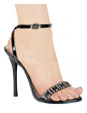 Carat 4.5 inch Rhinestone Sandals Ellie Shoes