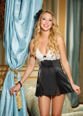 Charmeuse and Tulip Lace Babydoll