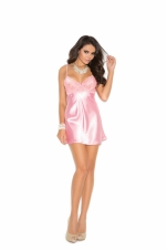 Charmeuse Babydoll with Lace Bodice