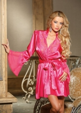 Charmeuse Cut Out Robe Shirley