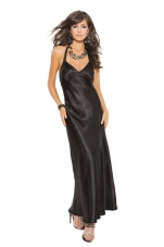 Charmeuse Satin Halter Neck Gown Elegant Moments