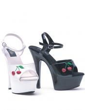 Cherry 6 Inch Embroidered Platform Sandal Ellie Shoes