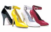 Classic 5 inch Pumps With Ankle Strap