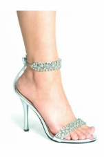 Claudia 4.5 inch Rhinestone Sandals Ellie Shoes