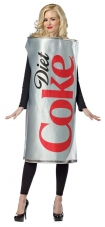 Coca-Cola - Diet Coke Can Adult Costume Rasta Imposta
