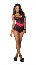 Come Hither Lace Romper Teddy