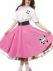 Complete 50'S Poodle Outfit Pink