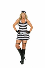 Convict Cutie 3 Pc Costume