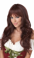 Coquette (Brunette) Adult Wig California Costume