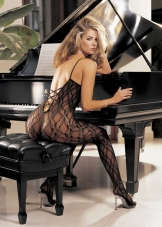 Criss Cross Lace Bodystocking Shirley