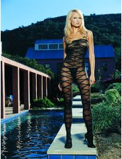 Criss Cross Sheer Bodystocking Leg Avenue