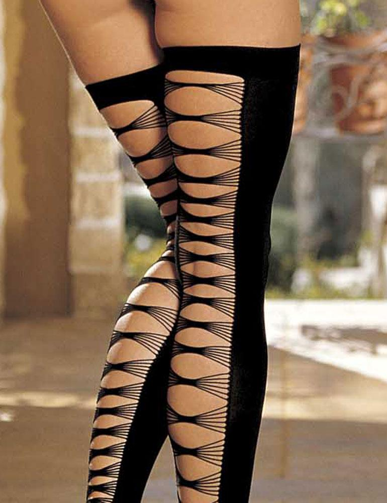 Criss Cross Stockings Shirley Sh 90124 Thigh High Stockings