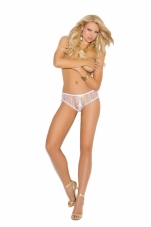 Crotchless Lace Panty with Gold Locket