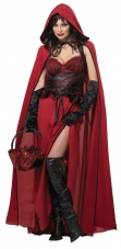 Dark Red Riding Hood Adult Costume California Costume